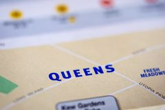 New York City map. Closeup detail of the New York City map royalty free stock photography