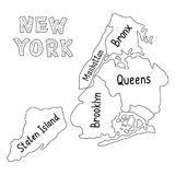 New York City Map Stock Photography
