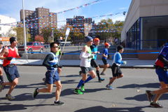 The 2014 New York City Marathon 182 Royalty Free Stock Images