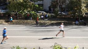 2014 New York City Marathon stock footage