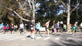 2014 New York City Marathon stock video footage