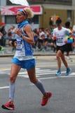 New York City Marathon runners traverse 26.2 miles through all five NYC boroughs Stock Photo