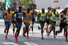 New York City maraton 2014 Arkivfoton