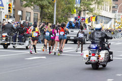 New York City maraton 2014 Arkivfoton