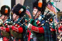 Défilé NYC de jour de St Patricks Image libre de droits