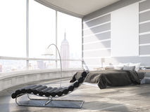 New York City master bedroom in modern flat Royalty Free Stock Photos