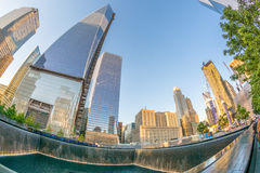 NEW YORK CITY - MAY 23: NYC's 9/11 Memorial at World Trade Cente Stock Photography