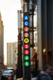 New York City metro line sign Royalty Free Stock Photos