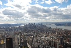 New York City, metropolitan area, city, sky, urban area. New York City is metropolitan area, urban area and metropolis. That marvel has city, skyline and daytime Royalty Free Stock Photography