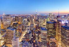 New York City Midtown with Empire State Building at Amazing Suns stock photography