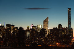 New York City Midtown Manhattan cityscape at twilight Royalty Free Stock Image