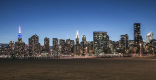 New York City - Midtown Manhattan Night View. This photo was taken in June 2014 in New York City, USA Royalty Free Stock Images