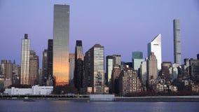New York City midtown Manhattan sunset skyline panoramic view over Hudson royalty free stock photos