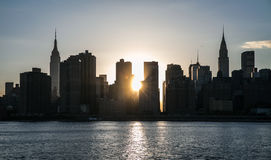 New York City - Midtown Manhattan Sunset View. This photo was taken in June 2014 in New York City, USA Stock Photo