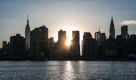 New York City - Midtown Manhattan Sunset View Stock Photo