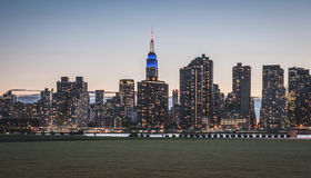 New York City - Midtown Manhattan Sunset View Royalty Free Stock Images