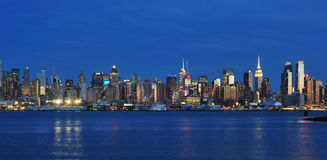 New York City Midtown Panorama Stock Images