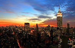New York City midtown skyline Stock Photo