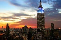 New York City midtown skyline Stock Images