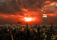 New York City midtown skyline Stock Photography