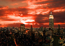 New York City midtown skyline Stock Photos