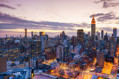 New York City midtown skyline Royalty Free Stock Images