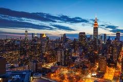 New York City midtown skyline Stock Image