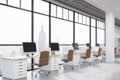 New York City modern kontorsinre Royaltyfri Foto