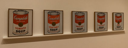 New York City MOMA - Andy Warhol, Campbell's Soup Cans Stock Photo