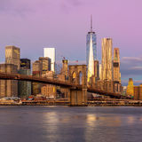 New York City - moning view of Manhattan, gentle colors Stock Photo