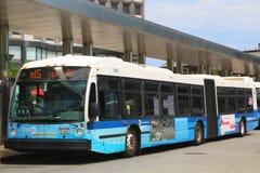 New York City MTA Select bus. NEW YORK - JUNE 24  New York City MTA Select bus  in Manhattan on June 24, 2014. Select Bus Service is New York City Transit's new Royalty Free Stock Image