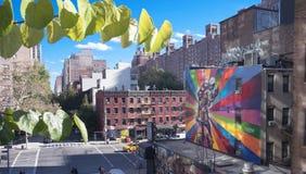 New York City mural famoso Imágenes de archivo libres de regalías