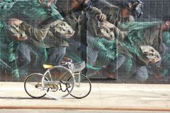 New York City Mural. A mural in the Lower East Side of New York royalty free stock image