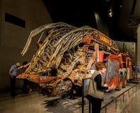 New York City 9/11 musée - camion de pompiers Images stock