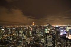 New York City na noite Imagens de Stock Royalty Free