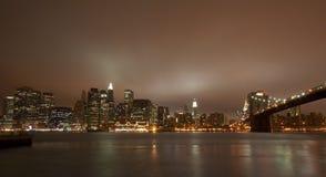New York City na noite imagem de stock
