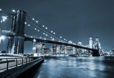 New York City na noite Imagem de Stock Royalty Free