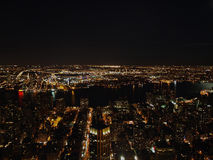 New York City na noite do Empire State Building, 2008 Fotos de Stock