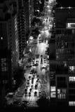 New York City na noite - em setembro de 2017 Fotos de Stock
