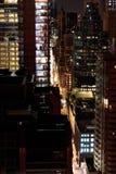 New York City na noite - em setembro de 2017 Foto de Stock Royalty Free