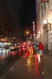 New York City na noite, EUA imagem de stock