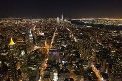 New York City nachts Lizenzfreies Stockfoto