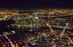 New York City nachts Stockfoto