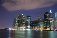 New York City nachts Lizenzfreie Stockfotos