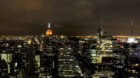 New York City nachts stock footage