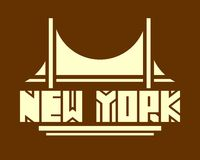 New York city name. Creative Typography Poster Concept Royalty Free Stock Image
