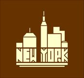New York city name. Creative Vector Typography Poster Concept Royalty Free Stock Image