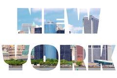 New York City. Name - USA travel destination sign on white background Royalty Free Stock Photos