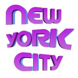 New york city. The name NEW YORK written in modern letterpress type Royalty Free Stock Photography