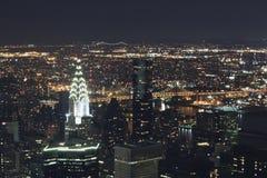 New York City - nattsikt Royaltyfria Foton